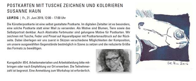 Postkarten zeichnen und kolorieren mit Susanne Haun bei boesner in Leipzig
