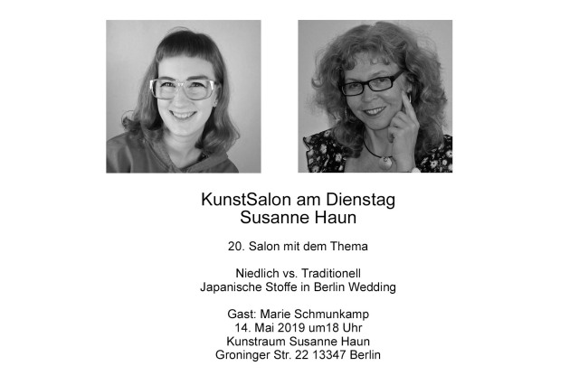 Einladung KunstSalon bei Susanne Haun - Marie Schmunkamp - Niedlich vs. traditionell