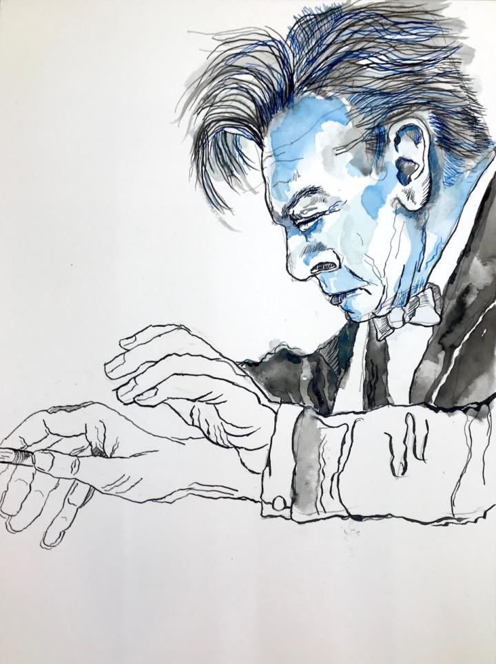 Entstehung Collagen Karajan von Susanne Haun (c) VG Bild-Kunst, Bonn 2019