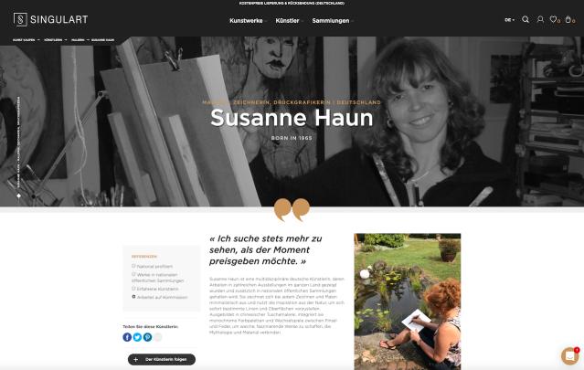 Portfolio Susanne Haun bei Singulart