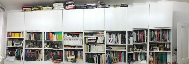 Panorama meines Bücher- und Materialschranks (c) Foto von Susanne Haun