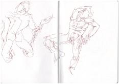 Skizzenbuch, in der Abgusssammlung Berlin, Zeichnung von Susanne Haun (c) VG Bild-Kunst, Bonn 2019