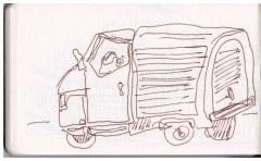 Skizzenbuch Neapel 5. - 09.04.2019, Zeichnung von Susanne Haun (c) VG Bild-Kunst, Bonn 2019