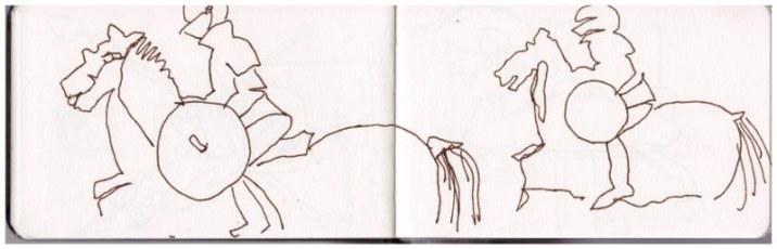 Skizzenbuch Neapel, 5. - 9.4.2019, Zeichnung von Susanne Haun (c) VG Bild-Kunst, Bonn 2019