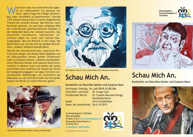 Seite 1 Flyer - Schau Mich An - Roswitha Geisler und Susanne Haun