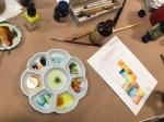 Impressionen Workshop Postkarten zeichnen bei boesner Leipzig (c) Foto von Susanne Haun
