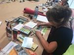 24 Impressionen Workshop Pastell Mixed Media bei boesner Leipzig (c) Foto von Susanne Haun