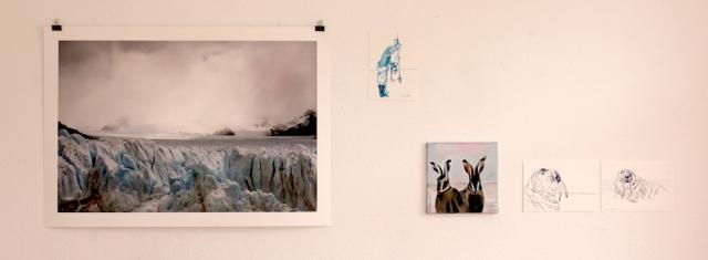 Ausstellungsansicht KunstSalon Eiswelten, Roswitha Mecke, Evamaria Blaeser-Ridderbecks, Susanne Haun (c) Foto M.Fanke