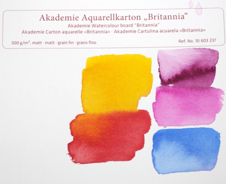 Farbkarte, Tusche auf Hahnemuehle Aquarellkarton von Susanne Haun (c) VG Bild-Kunst, Bonn 2019