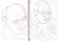 Skizzenbuch, Mein Sinnbild von Gregor Gysi, Zeichnung von Susanne Haun (c) VG Bild-Kunst, Bonn 2019