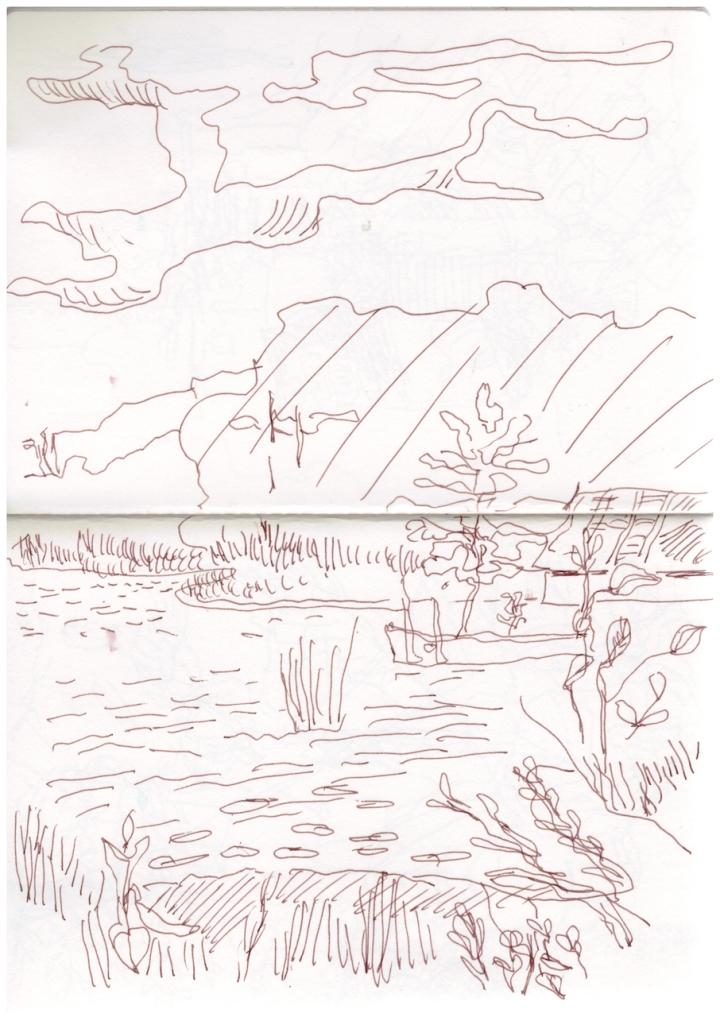 Freilichtmuseum Muess, Zeichnung von Susanne Haun (c) VG Bild-Kunst, Bonn 2019
