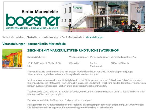Boesner Workshop Susanne Haun