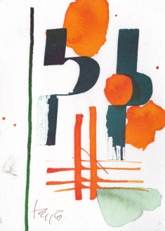 Blumen und Farbspiele, Zeichnung von Susanne Haun (c) VG Bild-Kunst, Bonn 2019