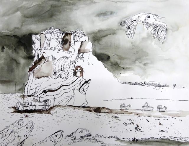 Die Trauminsel (c) Zeichnung von Susanne Haun