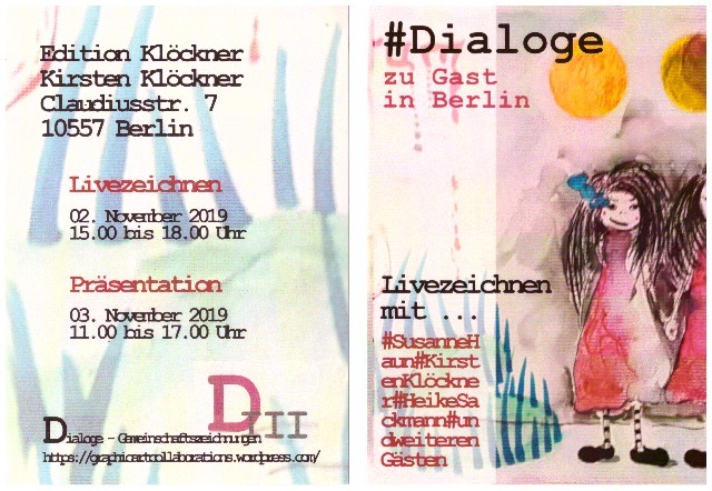 Einladung Ausstellung Dialoge Susanne Haun Kirsten Kloeckner Heike Sackmann