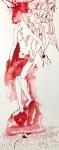 Rosen in Carrara, Version 2, 60 x 20 cm, Tusche auf Aquarellkarton, Zeichnung von Susanne Haun (c) VG Bild-Kunst, Bonn 2019