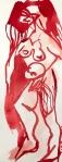 Rosen in Carrara, Version 3, 60 x 20 cm, Tusche auf Aquarellkarton, Zeichnung von Susanne Haun (c) VG Bild-Kunst, Bonn 2019