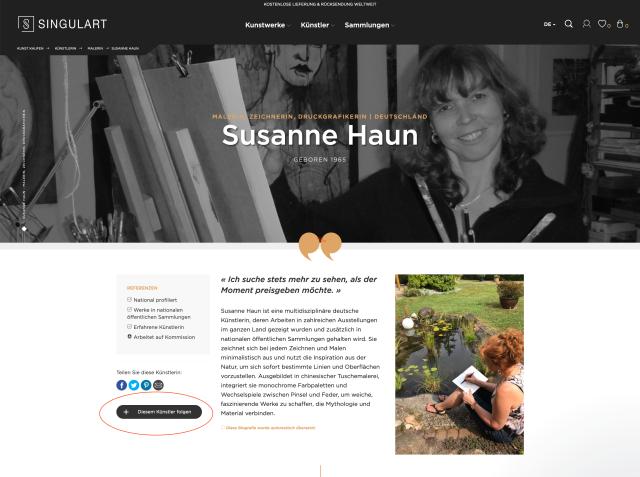 Singulart - Künstlerin Susanne Haun