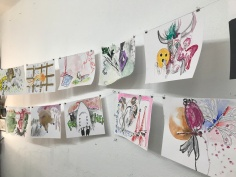 Gemeinschaftszeichnung von Susanne Haun, Heike Sackmann, Kirsten Klöckner, Stefan Weber