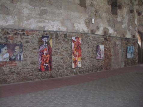 Ausstellungsansicht Klosterkirche Grimma bei Leipzig, 2007 (c) Foto von Susanne Haun