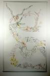 3. Versuch, bearbeitet, Movement of Capetown, South Africa, 200 x 125 cm, Tusche auf Aquarellkarton, Zeichnung von Susanne Haun (c) VG Bild-Kunst, Bonn 2020