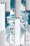 Zigarrenraucher, Version 2, Tusche und Feder auf Zigarrenkiste, Collage von Susanne Haun (c) VG Bild-Kunst, Bonn 2020