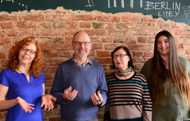 v.l. Susanne Haun, Rolf Fischer, Renate Straetlin, Meike Lander