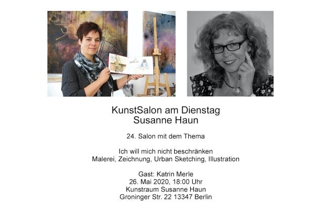 Einladung KunstSalon bei Susanne Haun - Gast Katrin Merle