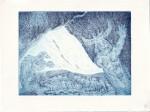 Die blaue Grotte, Version 1, 15 x 20 cm, Aquatinta von Susanne Haun (c) VG Bild-Kunst, Bonn 2020