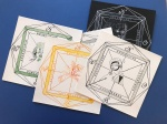 Windrosen, Zeichnungen von Susanne Haun - 25 x 25 cm - Tusche auf Bütten (c) VG Bild-Kunst, Bonn 2020