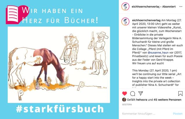 Stark fürs Buch, Eichhörnchenverlag, Susanne Haun auf Instagram
