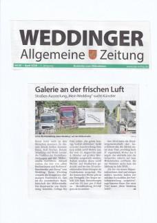 Weddinger Allgemeine Zeitung - 04.20 April 2020 Galerie an der frischen Luft