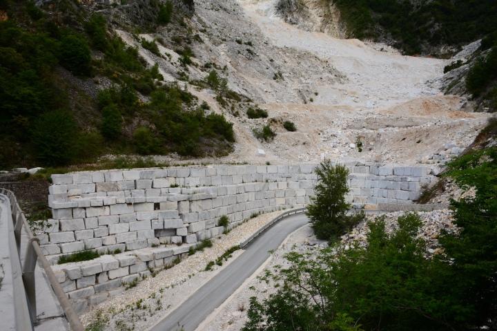 Carrara Marmor Abbau (c) Foto von M.Fanke