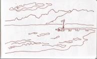 Skizzenbuch Toskana Nr. 3, Zeichnung von Susanne Haun (c) VG Bild-Kunst, Bonn 2019