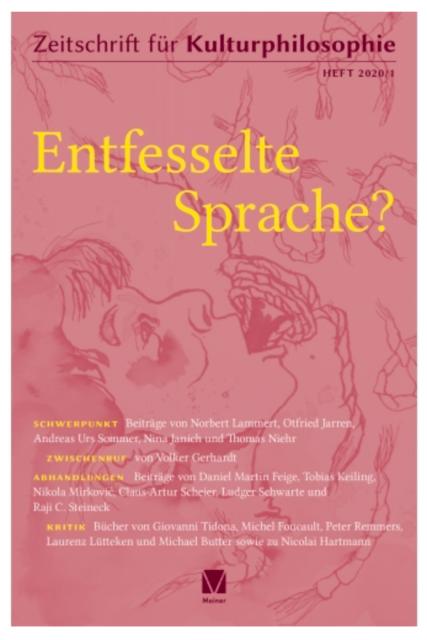 Titelblatt der Kulturphilosophischen Zeitung aus dem Meiner Verlag, Hamburg