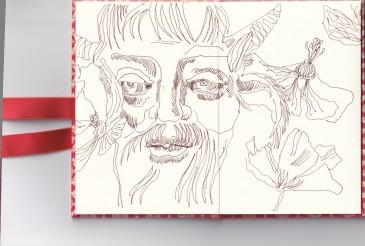 Leporello, Verso S. 5 und 6, Der kleine Teufel, 17,5 x 12 cm, Zeichnung von Susanne Haun (c) VG Bild-Kunst, Bonn 2020