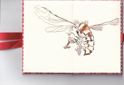 Leporello, Recto S. 1 und 2, Eine kleine Hummel, 17,5 x 12 cm, Zeichnung von Susanne Haun (c) VG Bild-Kunst, Bonn 2020
