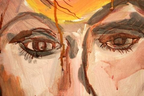 Ausschnitt, Herbst, Asyl im Paradies, Gemälde von Susanne Haun (c) VG Bild-Kunst, Bonn 2020