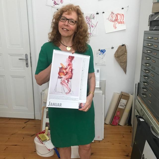 Susanne Haun präsentiert den Akt Kalender, Utz Benkel Verlag (c) Foto von M.Fanke